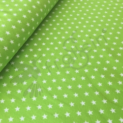 Cotton Jersey - Small Stars - Green