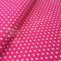Cotton Jersey - Small Stars - Fuchsia