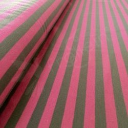 Cotton Jersey - Stripes 1 cm - Hotpink/Taupe