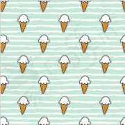 Organic Cotton Jersey -  Mini - Ice Cream - Mint