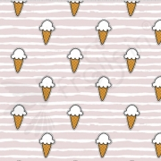 Organic Cotton Jersey -  Mini - Ice Cream - Pink