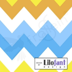 Organic Cotton Jersey - Big Chevron Stripes