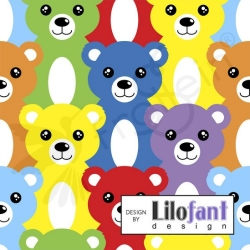 Organic Cotton Jersey - Rainbow Bears
