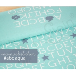 Cotton Jersey - ABC-Aqua