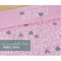Cotton Jersey - ABC - Pink