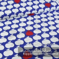 French Terry - Applebites- Blue/Red
