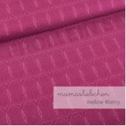 Cotton Jersey - Mellow Leaves-Berry