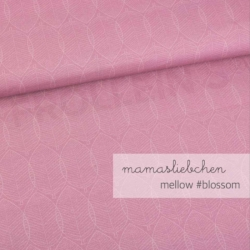 Cotton Jersey - Mellow Leaves-Old Rose