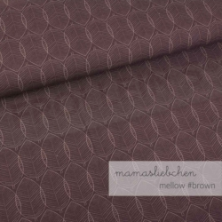 Cotton Jersey - Mellow Leaves-Brown