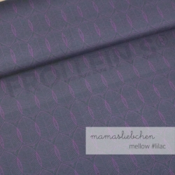 Cotton Jersey - Mellow Leaves-Lilac