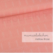 Cotton Jersey - Mellow Leaves-Peach Rose