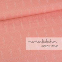 Cotton Jersey - Mellow Leaves-Rose