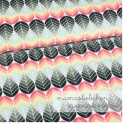 Cotton Jersey - Shapeleaves-Rainbow
