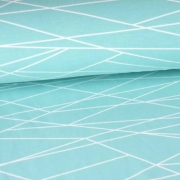 Summersweat - Shapelines - Aqua/White