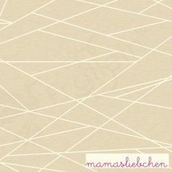 Cotton Jersey - Shapelines-Almond