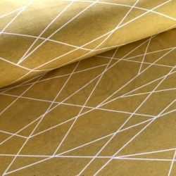 Cotton Jersey - Shapelines - Gold