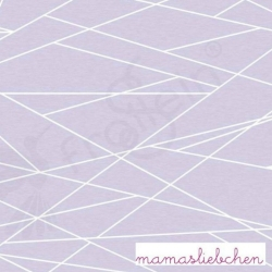 Cotton Jersey - Shapelines - Lavender