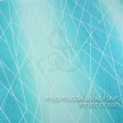 Cotton Jersey - Gradient Shapelines - Mint Ocean