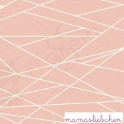 "Remnant 19""-Cotton Jersey - Shapelines-Peach"