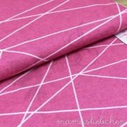 Cotton Jersey - Shapelines - Pink
