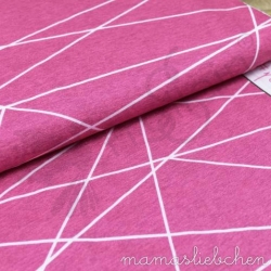 Cotton Jersey - Shapelines-Pink