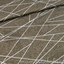 Cotton Jersey - Shapelines - Taupe