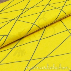 Cotton Jersey - Shapelines - Yellow