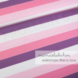 Cotton Jersey - Widestripes-Berry Bow