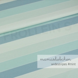 Cotton Jersey - Widestripes-Mint