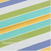 Cotton Jersey - Widestripes-Mint-Mix