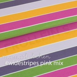Cotton Jersey - Widestripes-Pink Mix