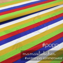French Terry - Widestripes - Poppy
