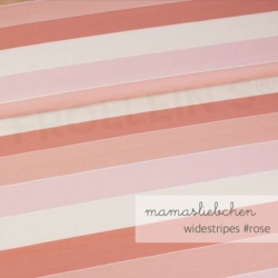 Cotton Jersey - Widestripes-Rose