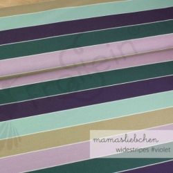 Cotton Jersey - Widestripes-In the Forest-Violet
