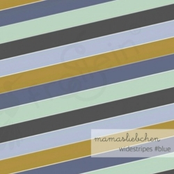 Cotton Jersey - Widestripes-In the Forest-Blue