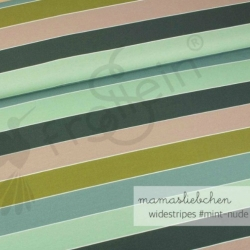 Cotton Jersey - In the Forest - Widestripes-Mint-Nude