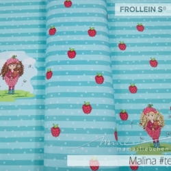 Cotton Jersey - Malina Raspberry-Teal