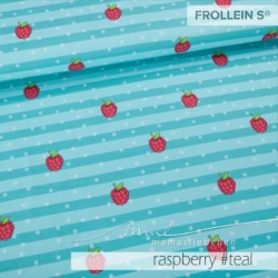 Cotton Jersey - Malina-Raspberry Stripes-Teal