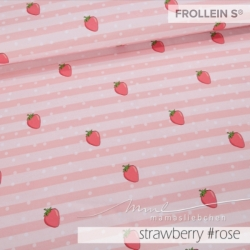 Cotton Jersey - Nell-Strawberry Stripes-Rose