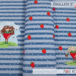 Cotton Jersey - Nell Strawberry-Blue