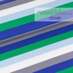 French Terry - Widestripes - Clover