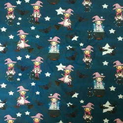 Cotton Jersey - Little Witch - Teal