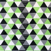 French Terry - Triangles - Green