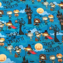 Fat Half - Cotton Jersey - Trick or Treat-Blue