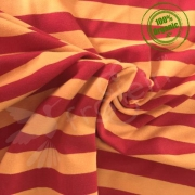 Organic Cotton Jersey - Stripes Red-Yellow