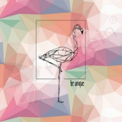 Organic Cotton Jersey -  Flamingo