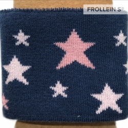 Jacquard Cuffs - Stars-Blue/Rose