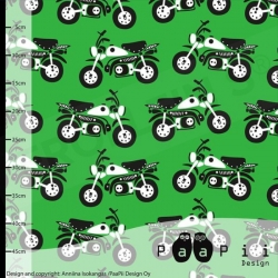 Organic Cotton Jersey - Motorcycle-Green