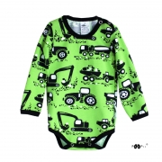 Organic Cotton Jersey - Machines-Neon Green