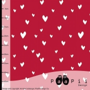Organic Cotton Jersey - Hearts